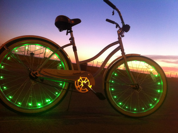 Bike with LED lights