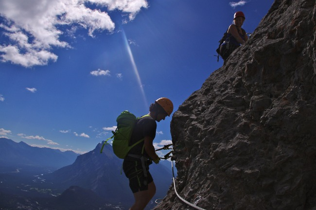 Mountaineering Mt. Norquay