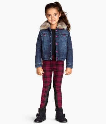 red and black children's plaid pants