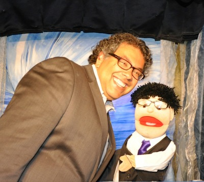 Nenshi with puppet