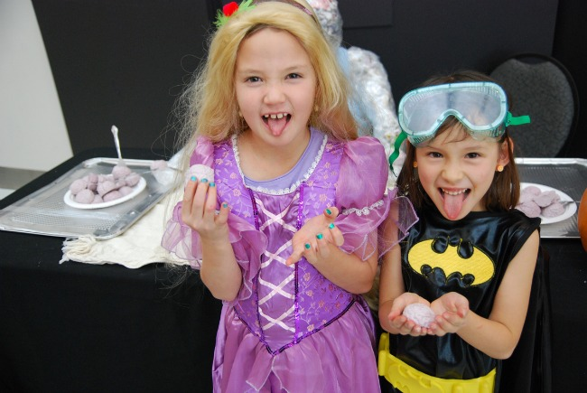 two girls in halloween costume