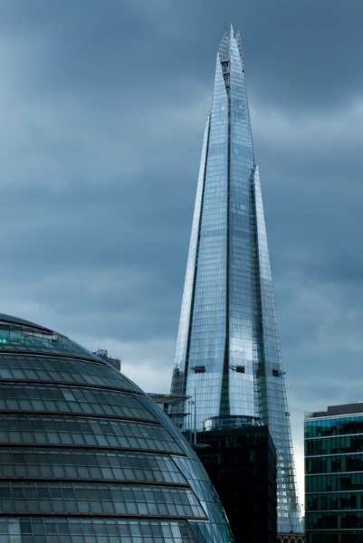 The Shard building and part of City Hall, the office of the Mayor and the London Assembly in Southwark.