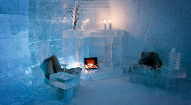 ice hotel guest room