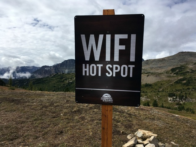 Wifi Sign outdoors