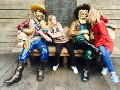 family at Ghost Town Knotts Berry Farm