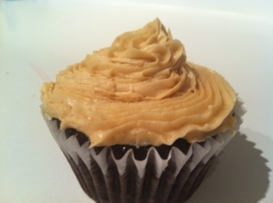 Peanut butter chocolate cupcake