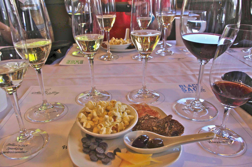 wine tasting with food