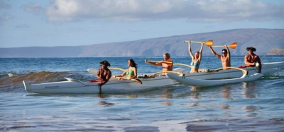 Traditional hawaiian canoe