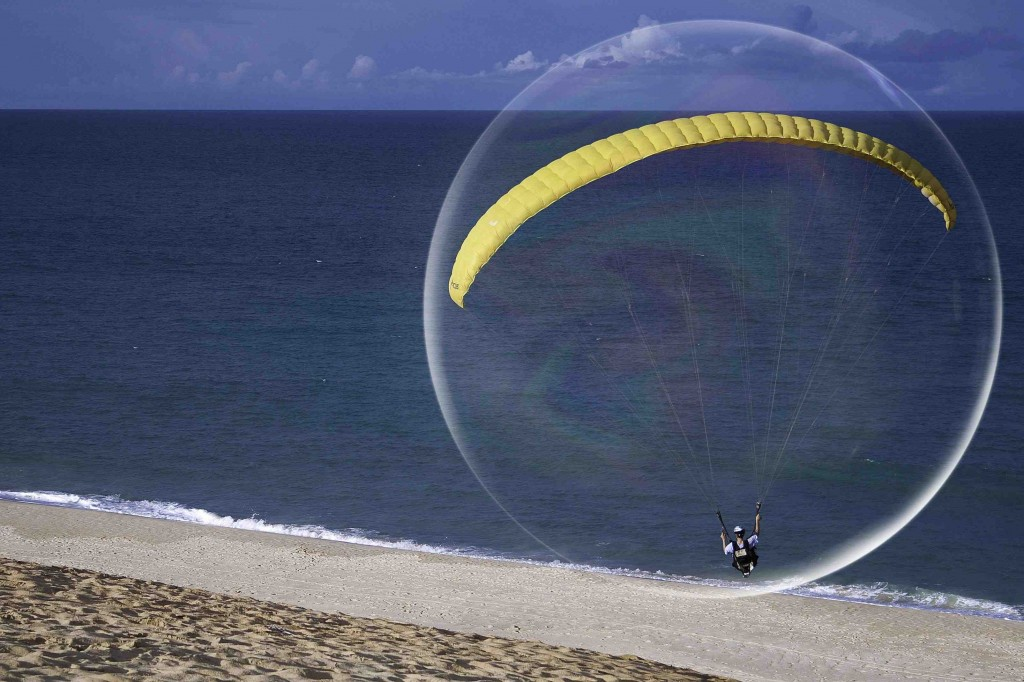 Bubble on beach