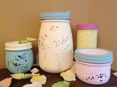 DYI: How to Make Shabby Chic Containers