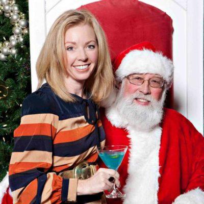 Jody Robbins and Santa