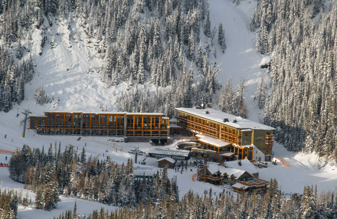 Aerial view Sunshine Mountain Lodge